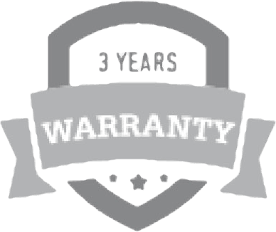3 year warranty logo optimised greyscale